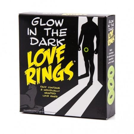 Glow In The Dark Love Rings