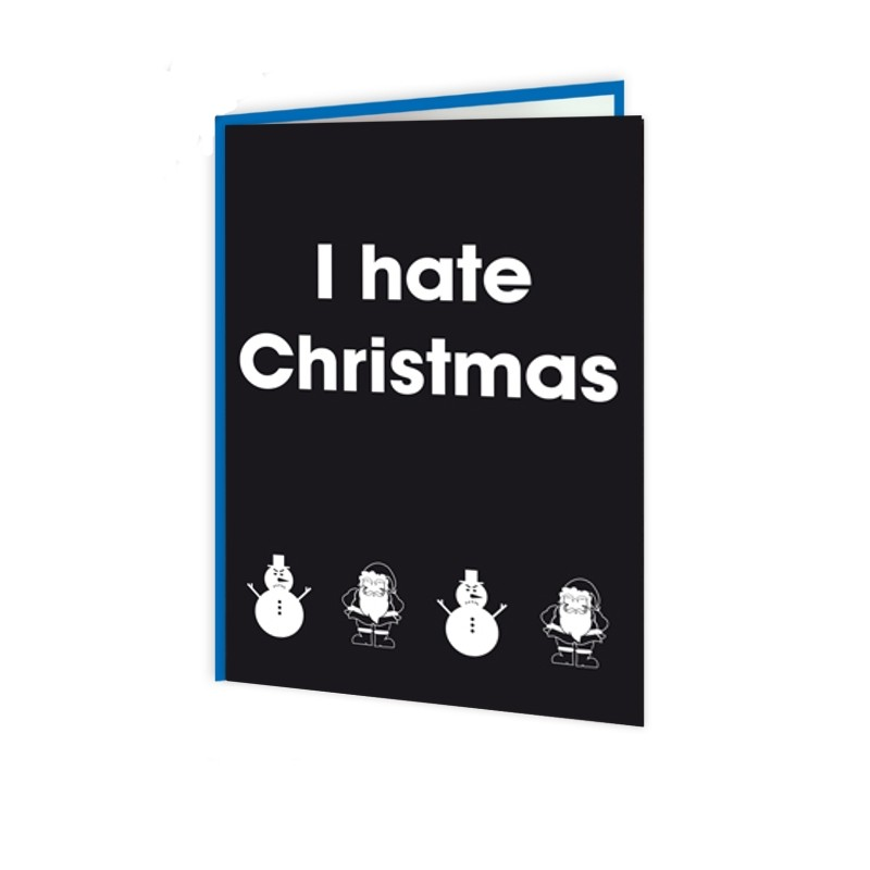 Santa Balls - I Hate Christmas Card