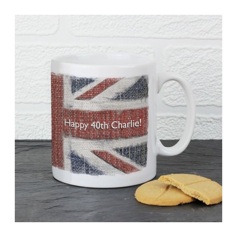 Personalised - Union Jack Mug