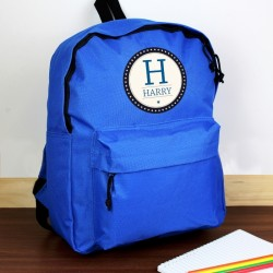 Personalised - Star Name Blue Backpack