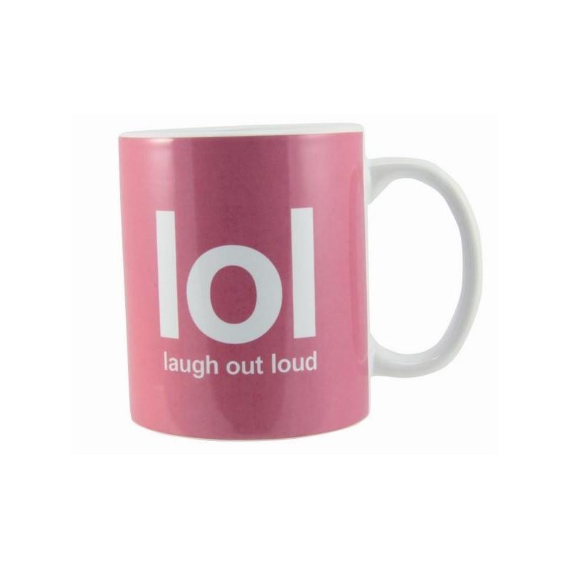 Text Speak Mug - LOL