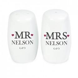Personalised - Mr & Mrs Salt And Pepper Set