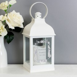 Personalised - Soft Watercolour White Lantern