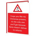 Warning Card - Santa Doesn't Deliver To Whores