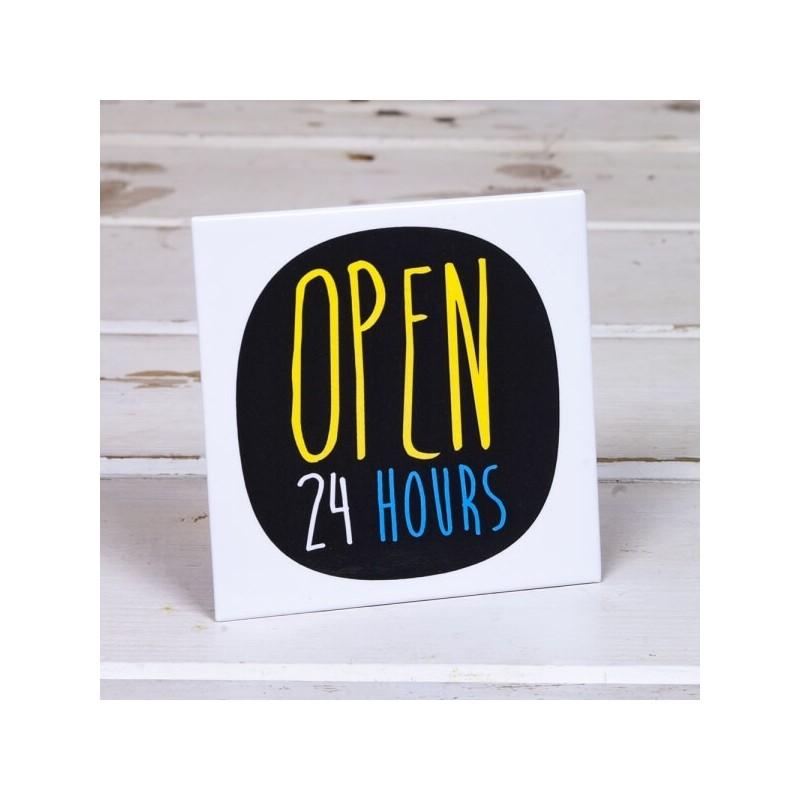 Open 24 Hour - Fridge Magnet