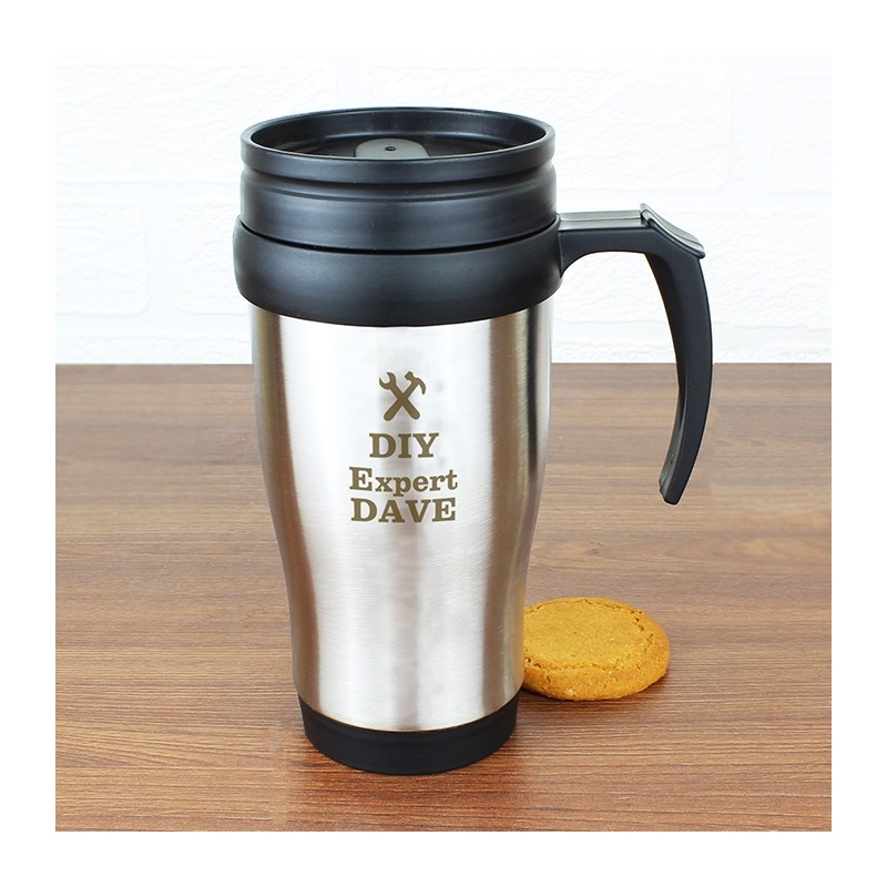 Personalised - Man At Work Travel Mug