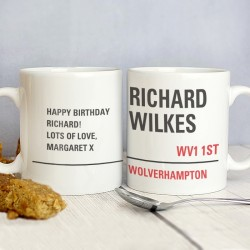 Personalised - London Street Sign Mug