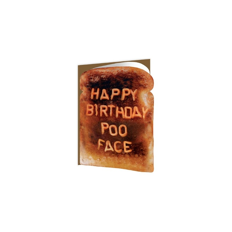 Toasted - Happy Birthday Poo Face