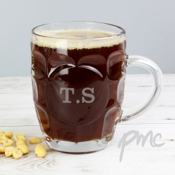 Personalised - Initial Dimple Pint Glass