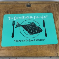 The Cat Will Have The Fish PlaceMat