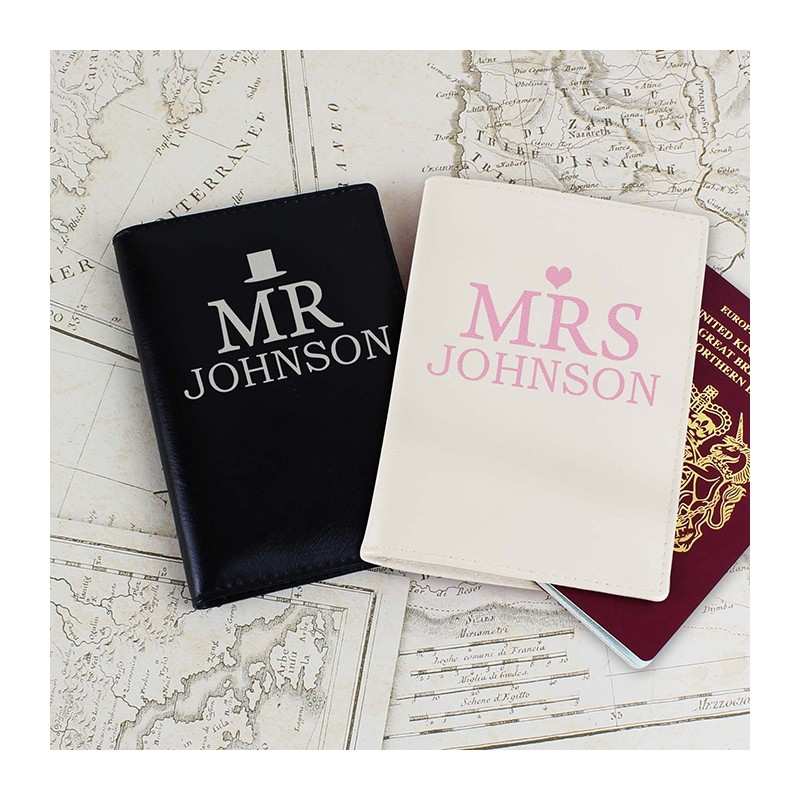 Personalised - Mr & Mrs Passport Holders Set