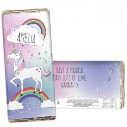 Personalised Unicorn Chocolate Bar