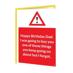 Warning Cards - Dad I Forgot