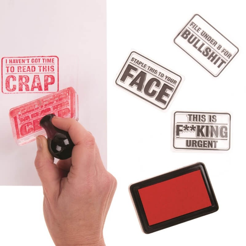 4-in-1 Rude Office Stamp