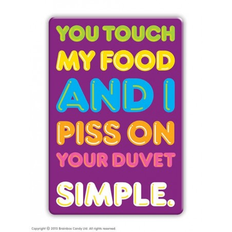 Touch My Food - Fridge Magnet