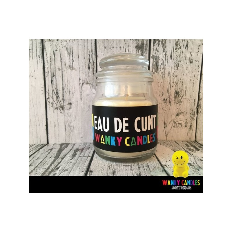 Rude Novelty Wanky Candles - Eau De Cunt