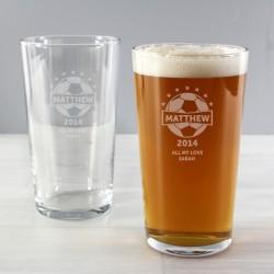 Personalised - Football Pint Glass