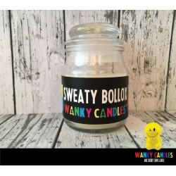 Rude Novelty Wanky Candles - Sweaty Bollox