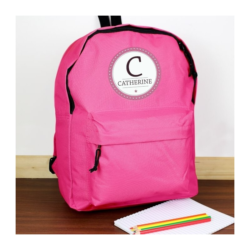 Personalised - Star Name Pink Backpack