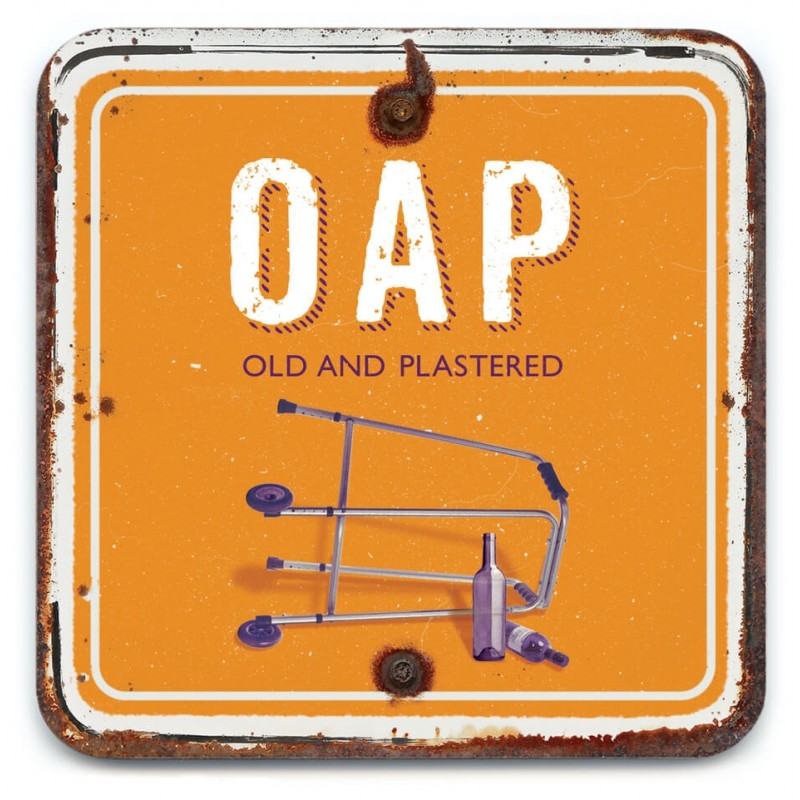 Old Plastered Coaster