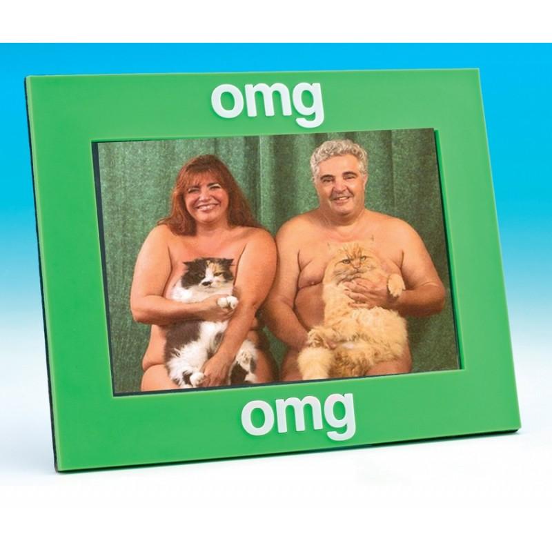 Text Speak Photo Frame - OMG